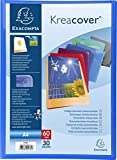 Exacompta Lot de 12 Protèges documents personnalisable PP Kreacover 60 vues Assortis