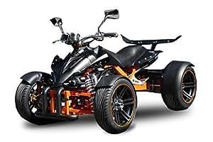 "AUFGEBAUT Spy 350cc Racing Quad 14"" 2 Pers. Autobahn Zulassung 6-Gang Manuell + Rückwärtsgang Quad Atv Racing (Grün mit Schwarzen Akzenten)"