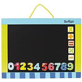 BOIKIDO BKD80834096 – Lavagna a Doppia Faccia con Numeri Ed Operatori Matematici Magnetici, in Legno