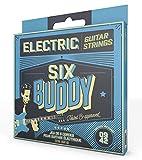 SIX BUDDY HQ-0942E Jeu de 6 cordes pour guitare électrique 09-42