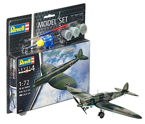 Revell Revell63962 Heinkel He70 F-2 Modèle Lot (82-Piece)