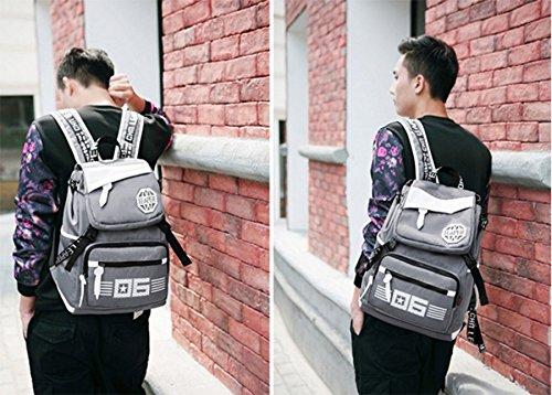 Ohmais Rücksack Rucksäcke Rucksack Backpack Daypack Schulranzen Schulrucksack Wanderrucksack Schultasche Rucksack für Schülerin Grau
