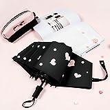 Automatischer Regenschirm, Der Weiblichen Regenzweifachgebrauch Kleinen Frischen Regenschirmsonnenregenschirm-Sonnenschutz UV Faltet