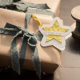 Die Stadtgärtner Geschenkanhänger | Stern gelb | Anhänger mit Saatgut für Wildblumen