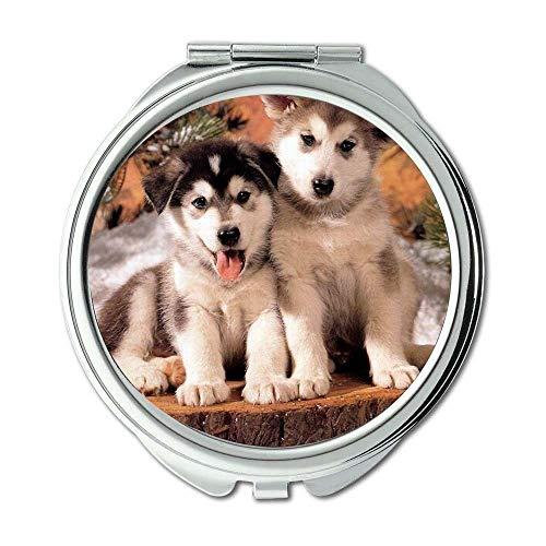 Yanteng Spiegel, Kleiner Spiegel, Niedlicher Hund frei, Taschenspiegel, 1 X 2X Vergrößerung
