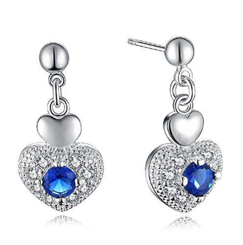Fablcrew eleganti orecchini zircone Heartshaped Lady a perno per donne ragazze valentines Day Love Gift
