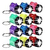 S/O® 12er Pack Schlüsselanhänger Taschenlampe mit Griff Mini LED-Taschenlampe Lampe Taschenlampen Lampen Kinder Kindertaschenlampen