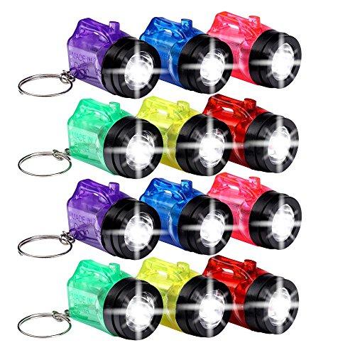 Schramm® Sonderposten 96 Stück Schlüsselanhänger Taschenlampe mit Griff Mini LED-Taschenlampe Lampe Taschenlampen Lampen Kinder Kindertaschenlampen