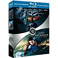 The Dark Knight, le chevalier noir - Superman Returns : coffret 2 Blu-ray