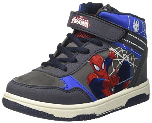 Spiderman Jungen SPI6444 High-Top, Blu (Navy), 31 EU (Spider-man-klettverschluss)