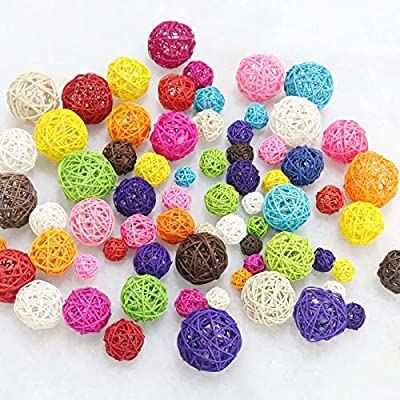 10pcs Rattan Ball Toy DIY Accessory Toy for Hamster Pet Accessories Rat Mouse Small Animal Play House Cage by LINSUNG