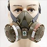 Respiratore Maschera Antigas, 2 Cartuccia A Carboni Attivi Valvola Respiratoria, Mezza Maschera Protezione Respiratoria Pesticidi, Sostanze Chimiche, Odore