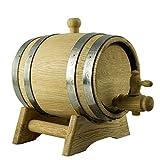 Holzfass aus Eiche mit Lagerbock und Auslaufhahn für Wein oder Spirituosen, Volumen Eichenfass:30 Liter