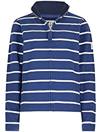 Lazy Jacks Ladies Classic Super Soft Striped Zip Thru Sweatshirt