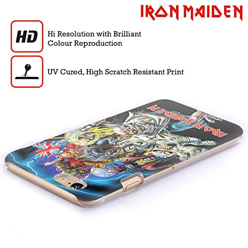 Ufficiale Iron Maiden Best Of Beast Arte Cover Retro Rigida per Apple iPhone 6 / 6s Best Of Beast
