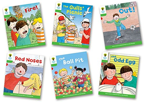 Portada del libro Oxford Reading Tree Biff, Chip and Kipper Level 2. Decode and Develop: Mixed Pack of 6