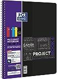 Oxford 400037434 étude de Mobile numérique avec bloc-Notes à spirale SOS application de projets format A4, 100 feuilles 90 G/m², 5–A Lot de 4–Couleurs