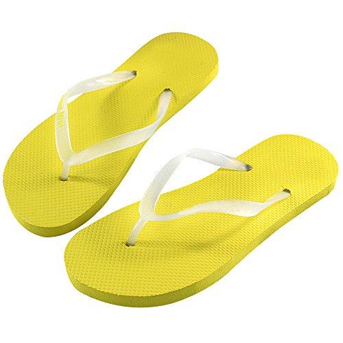 Eizur Lumineux Tongs Unisexe Flip Flops Chaussures de plage Slim Sandales Les amoureux Eté plat Décontractée Bout Ouvert Chaussons pour Hommes Femmes