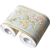 Cenefa de papel pintado impermeable, de Da Jia Inc, en rollo de 10 x 500 cm, con diseño tridimensional, retirable, autoadhesiva, de para decoración de cocinas, baños y azulejos