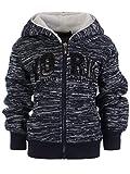 Jungen Kinder Hoodie Pullover Kapuzenpullover Sweatshirt Shirt Sweatjacke 22867, Farbe:Blau, Größe:116