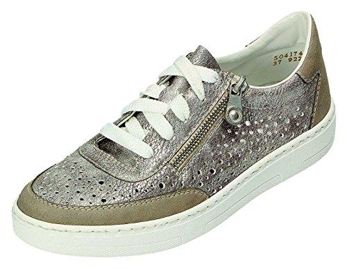 Rieker 50417, Sneakers Basses Femme Argent (Vapor/altsilber / 40)