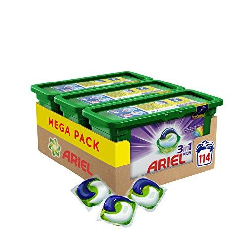 Ariel 3in1 Pods Colorwaschmittel - 114 Waschladungen - Vorratspack (1 x 3 x 38 Wäschen)