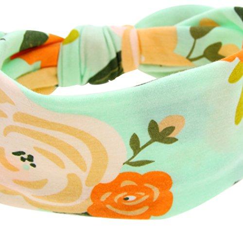 Wickeldecke Haarband Set Blume gedruckt Receiving Decken mit Schleife Head Wrap für Neugeborene Baby