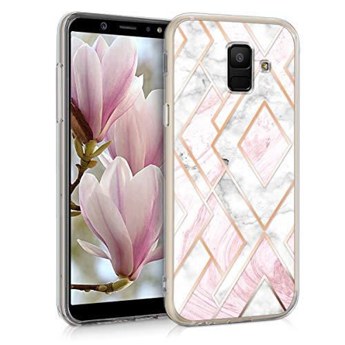 kwmobile Samsung Galaxy A6 (2018) Hülle - Handyhülle für Samsung Galaxy A6 (2018) - Handy Case in Rosegold Weiß Altrosa