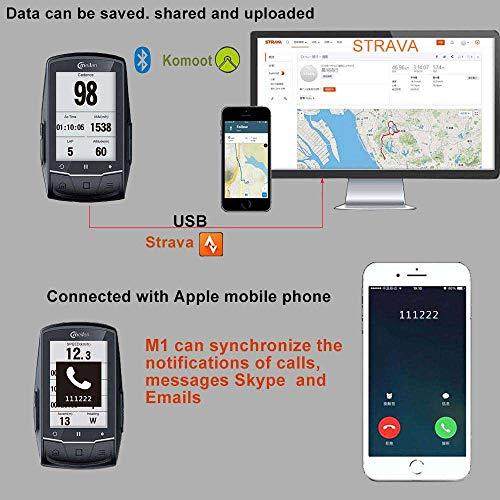 MeiLan - Navegador GPS para Bicicleta (2,6 Pulgadas, Bluetooth, con función de...