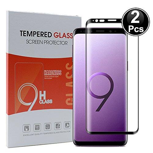 Ash-case 2xSamsung Galaxy S9 Plus Displayschutzfolie, HD Ultra-klar Anti-Kratz Anti-Fingerabdruck Displayschutzfolie Glas Panzerglas Folie Screen Protector(Vollständige Abdeckung)