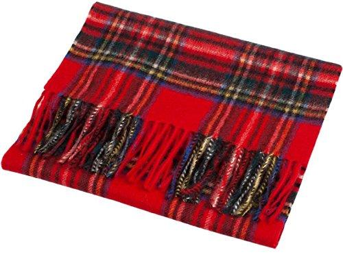 a89f25d2eccc Unisex Cashmere Scarves In Stewart Royal Tartan Design 26cm Wide