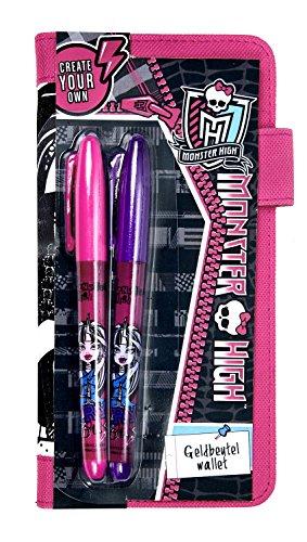 Undercover MHJO7005 - Geldbörse zum Bemalen, Monster High Fashion CYO, ca. 19 x 10 x 1 (Monster High Geldbörse)