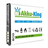 Akku-King Akku ersetzt HTC BA S890, BA-S890, BM60100 - Li-Ion 1900mAh - für Desire 500, One SC, ST, SU, SV