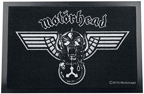 Felpudos Música Motörhead Winged Warpig Alfombra para puerta Negro