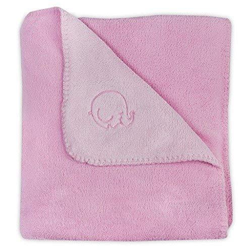 Jollein 520-511-65037 Comfy couverture en polaire 75 x 100 cm Rose