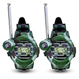 Kinder Walkie Talkies Uhr Walky Talky Set Camo Outdoor Armee Spielzeug 150 Meter Long Range Two Way Radios für Kinder Geschenke Camouflage Watch 7 in 1 (2 PACK)