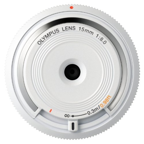 OLYMPUS 15 MM F:8   OBJETIVO PARA MICRO CUATRO TERCIOS (DIAMETRO DE 56 MM)  COLOR BLANCO