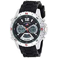 U.S. Polo Assn. Sport Men's Quartz Metal and Rubber Casual Watch US9550