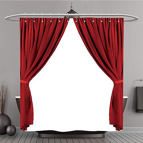 Duschvorhang 351554273rot Theater Vorhang Polyester-auf weißem Hintergrund-Bad (Hintergrund Ninja Turtle)