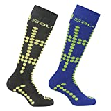 Salomon Junior 2 Pack Kids Ski Socks Cushioned Wool Blend
