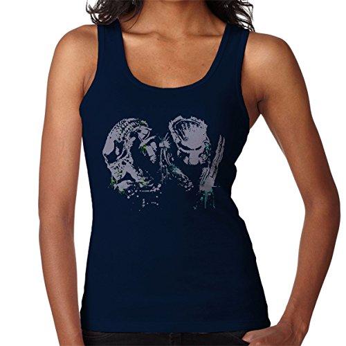 Alien Vs Predator Paint Splatter Women's Vest Navy blue