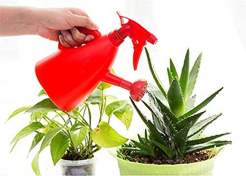 Gabrielley Grande contenance Plastique d'arrosage Pot d'arrosage Bottle-red