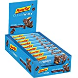 PowerBar Clean Whey Protein Riegel Low Sugar Eiweiß-Riegel (ohne Schokoladenüberzug Fitness-Riegel) - Chocolate-Brownie (18 x 45g)