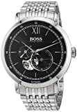 Hugo BOSS Herren Datum klassisch Automatik Uhr mit Edelstahl Armband 1513507