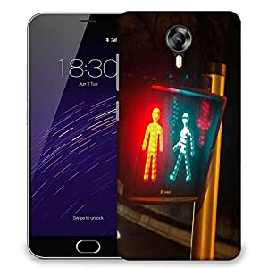 Snoogg Traffic Rules Designer Protective Phone Back Case Cover For Meizu M2