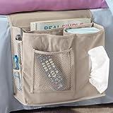 6Pocket Nachttisch Storage Bag Aufhängen Kleinteile, Zeitschriften, Handy, Tissue Holder Organizer Matratze Buch Fernbedienung Caddy Getriebe Nachttisch Storage Caddy Sofa Pouch, 31,8cm W x 12,7cm D x 25,4cm H (Khaki)
