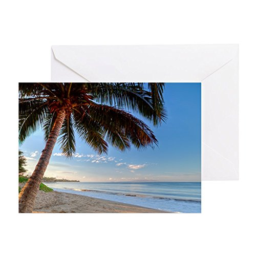 CafePress - Maui Paradise Beach Hawaii 3 - Grußkarte, Notizkarte, Geburtstagskarte, blanko Innenseite glänzend - Recycling-kokos