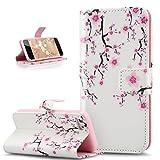 ikasus Coque iPhone 5C Etui,Motif Coloré Lettres Relief Housse en Cuir PU Etui...