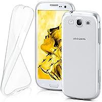 Samsung Galaxy S3 Hülle Silikon Transparent Klar [OneFlow Clear Back-Cover] TPU Schutzhülle Dünn Handyhülle für Samsung Galaxy S3 / S III Neo Case Ultra-Slim Silikonhülle Rückseite
