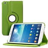kwmobile Funda 360° para Samsung Galaxy Tab 3 8.0 Carcasa con pie de soporte - Funda protectora para tablet bolso con función de soporte en verde